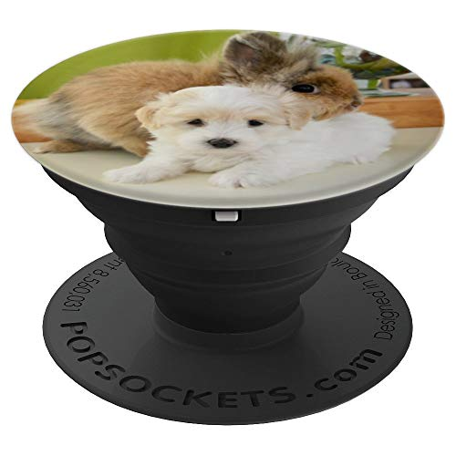 Cute Bunny Rabbit and puppy PopSockets Grip and Stand for Phones and Tablets