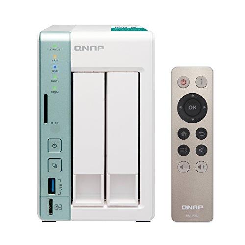 QNAP TS-251A 2-bay TS-251A personal cloud NAS/DAS with USB direct access, HDMI local display (TS-251A-2G-US)