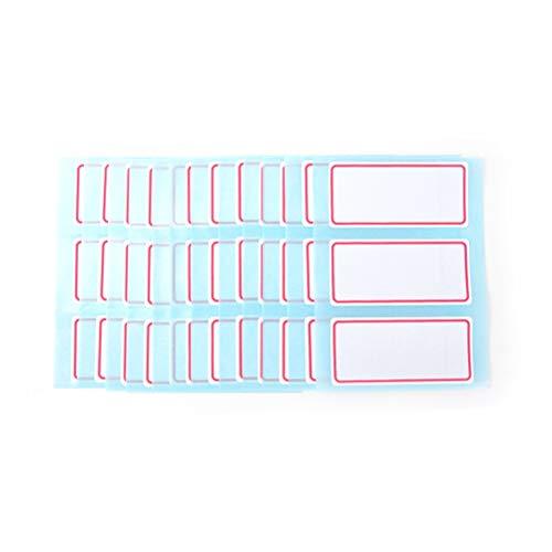 BLOUR 1 Set Selbstklebendes Etikett Leere Notizetikettenleiste Klebrige weiße beschreibbare Namensaufkleber Neuankömmling