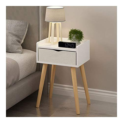 Estante para libros Sala de estar Mesa de centro moderna Mesa de almacenamiento de patas de madera maciza Ventana flotante Mini Talk Mesa de té Dormitorio Mesita de noche Organizador ( Color : A )