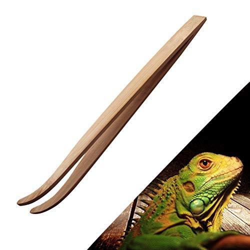 テラリウム ピンセット ペット 昆虫 爬虫類 両生類 餌やり・掃除用 竹製 1点入り(28cm)