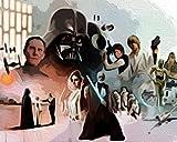 Sable de luz de Darth Vader de Star Wars Pintura por Números para Adultos y niños Pintar Diy al óleo de Bricolajecon Personalizado Kit con Pinceles 40X50CM Principiantes Lienzo Decoraciones sin Marco