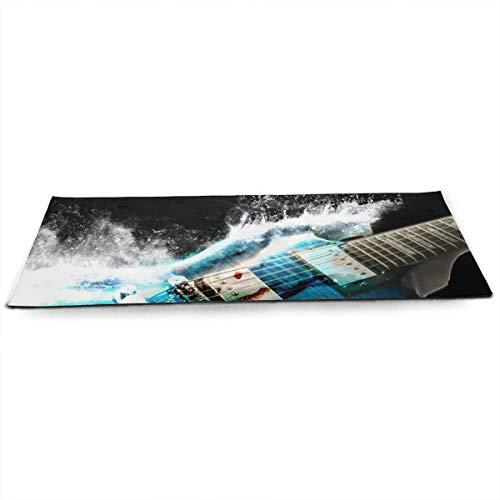 NA Gitaren Airbrushing Schilderijen Cg Digitale Kunst Golven Splash Yoga Mat met Gratis Yoga Mesh Bag Milieuvriendelijke anti-slip Oefening Matten voor Pilates.