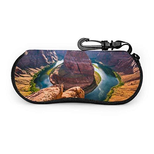 America The Grand Canyon Landscape Estuche para gafas de viaje Estuche para gafas para niña Estuche ligero portátil con cremallera de neopreno Estuche blando para gafas decorativas
