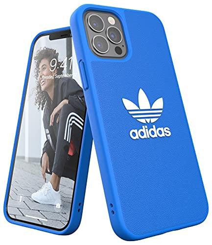 adidas Funda diseñada para iPhone 12 / iPhone 12 Pro 6.1, Fundas a Prueba de caídas, Bordes elevados, Funda Original, Color Azul
