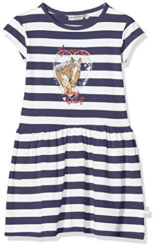 Salt & Pepper Mädchen 03113267 Kleid, Blau (Navy 498), 140 (Herstellergröße: 140/146)