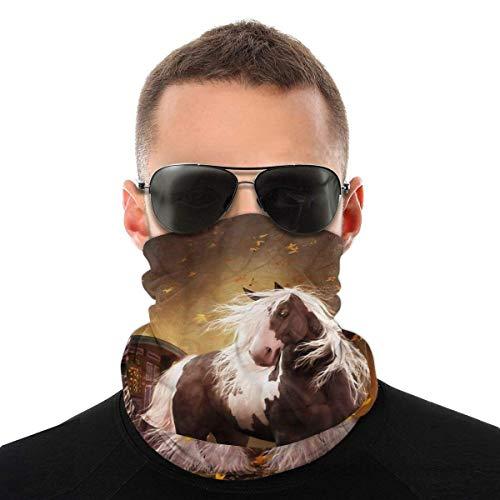 Nasculi Gypsy Gold – Gitano Vanner Caballo a prueba de polvo, resistente al viento, bandana de protección para la cabeza, bufanda unisex