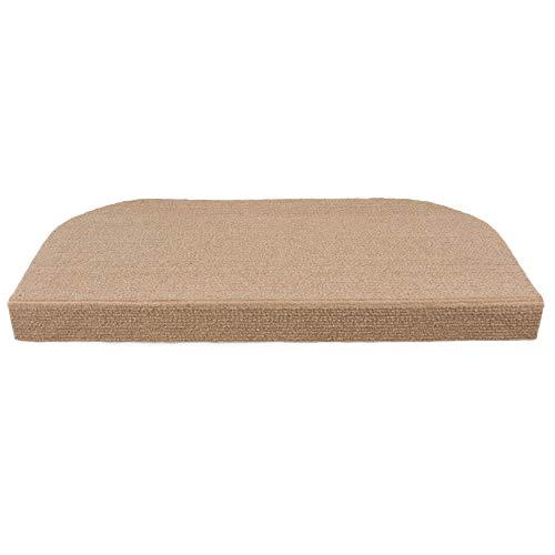 Y-Step - Set di 15 tappetini antiscivolo adesivi per scale, pelle scamosciata, cachi, 45 x 23 cm
