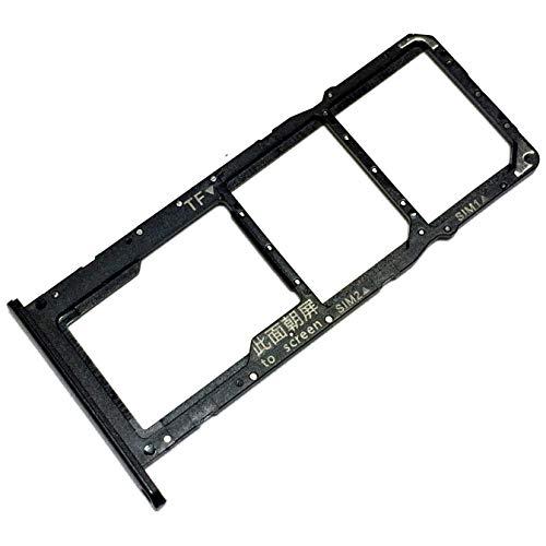 Bandeja Tarjeta Dual SIM y Soporte Micro-SD para Huawei Y6p, Repuesto Original, Medianoche Negro