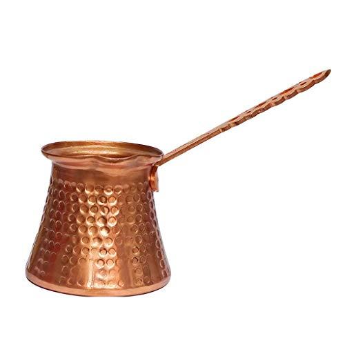 Y-POWER Türkische Kaffeekanne, griechisch-arabischer Kaffeebereiter, gehämmerter Kupferkaffee, Kupfertopf, Herdplatte Kaffeemaschine