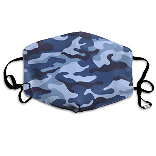 Military Camouflage Nahtlose Blaue Farbe Human Mouth Cover Waschbar