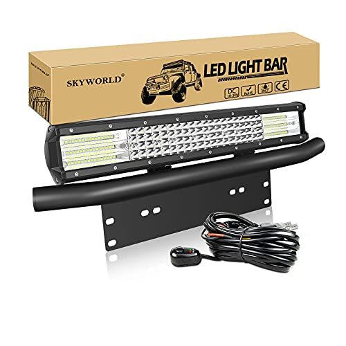 SKYWORLD 50,8 cm 20 Zoll 510W LED Lichtleiste Spot Flutlicht fahren Nebelscheinwerfer...