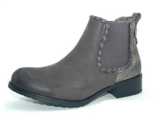 Kayla Damen Chelsea Boots grau Schuhe leicht gefüttert (36)
