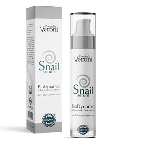 Crema viso bava di lumaca pura 82% e ozono BIO e brevettata crema biologica antirughe e idratante viso e occhi per tutti i tipi di pelle - trattamento per macchie sulla pelle acne e cicatrici