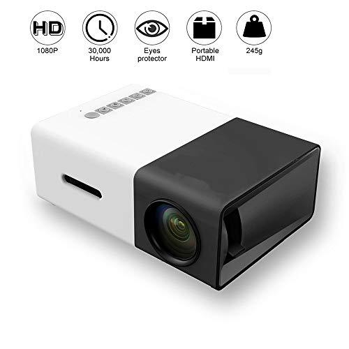 WIVION Proyector Mini, proyector LED portátil Pocket Pico Projector Gran Regalo para niños, HD 1080P Compatible HDMI Conectar a PC Computadora portátil para niños