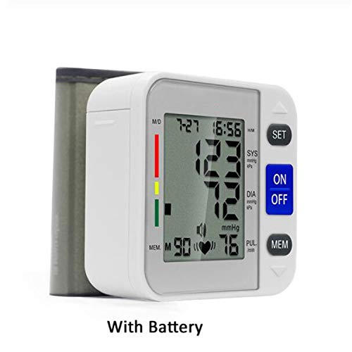 Best Deals! BABIFIS Digital LCD Display Wrist Blood Pressure Monitor Heart Beat Rate Pulse Meter Ton...