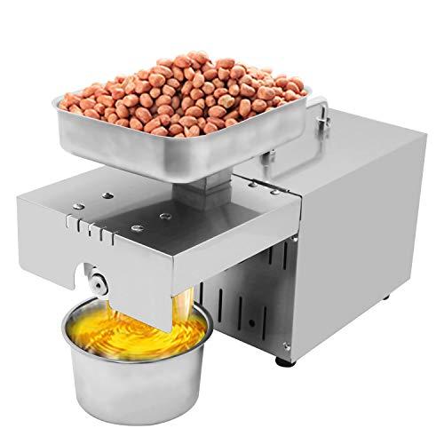 Huanyu Machine à Presser à Huile Essentielle 1500 W ≥ 90% Haute consommation d'huile, extracteur de Chaleur et de caltextre Machine à Presser avec Un Thermostat Constant Automatique à 45 ° -130 °
