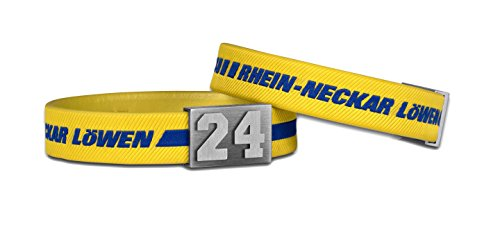 BRAYCE® Rhein-Neckar Löwen Armband mit Deiner Trikot Nummer 0-99 I Handball pur mit dem Löwen Trikot am Handgelenk personalisierbar & handgemacht