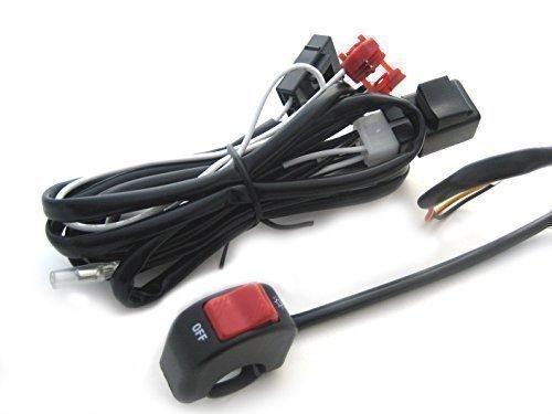 Moto Arnés Cableado & On Off Interruptor - Completo Foco Luz Antiniebla Kit