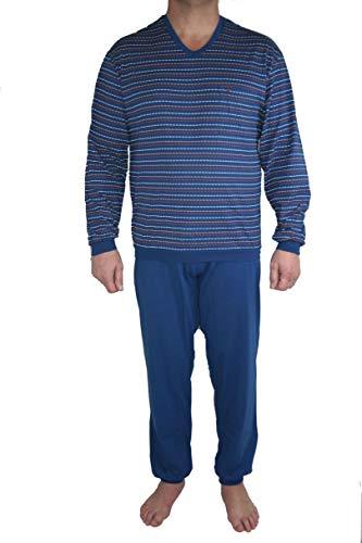 Seidensticker Herren Anzug Lang Zweiteiliger Schlafanzug, Blau (Dunkelblau 803), X-Large (054)