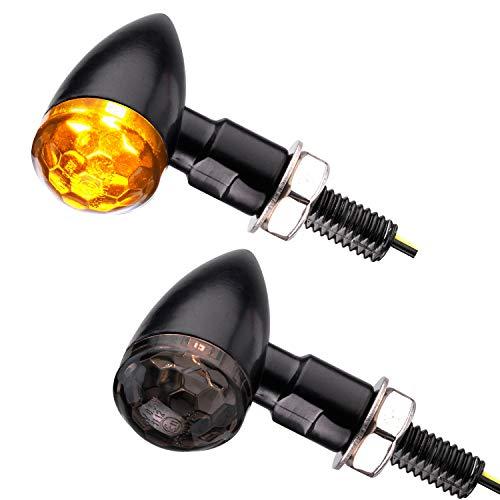 Motorrad LED Mini Blinker Bullet Style schwarz smoke getönt e-geprüft 1 Paar