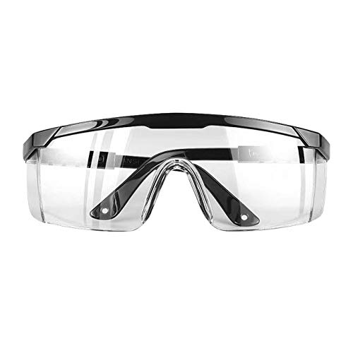 DJM 4.0 Safety Glasses with Clear Scratch Resistant Wrap-Around Lenses No-Slip Grips UV Protection Adjustable Eyewear Goggles