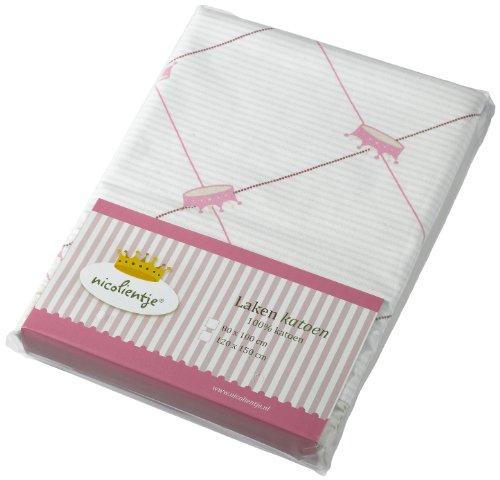 Nicolientje 700943 laken, 120x150 cm, roze