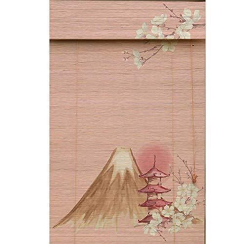 ZAQI Estores enrollables Persianas Anchas de 50 cm / 65 cm / 80 cm / 95 cm, sombrilla de Tema de Flor de Pera con Cenefa, for la Taberna de Hotel de Estilo japonés (Size : 80×95cm)