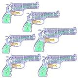 Wopin 6 Pièces Pistolets à Eau Pistolets de Pulvérisation Set Hanel-Puissant Jet d'eau d'une portée maximale de1 à 5 m, pour Les fêtes Estivales en Plein air, Piscine extérieure, Jardin et Plage