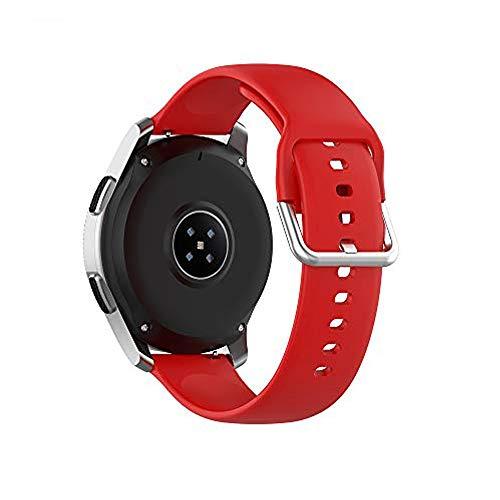 Bemodst Correa de reloj universal de 22 mm, correa de silicona suave, ajustable, correa de repuesto para reloj deportivo de 22 mm de ancho para Polar Vantage M (rojo, S)