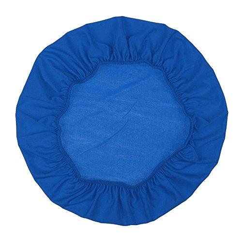 Sedia coprisedili, moderno stile semplice casa sedia coperture rimovibili spandex elastico 45cm-50cm tondo/quadrato/rettangolare da pranzo della sedia, sedia coprisedili Taglia libera Blue