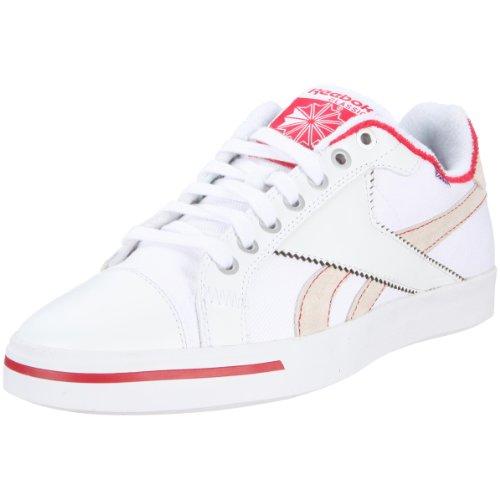 Reebok Tennis Vulc Low 180140 Herren Sportschuhe Weiss (white/excellent red/medium grey 3), EU 45.5 (UK 11)