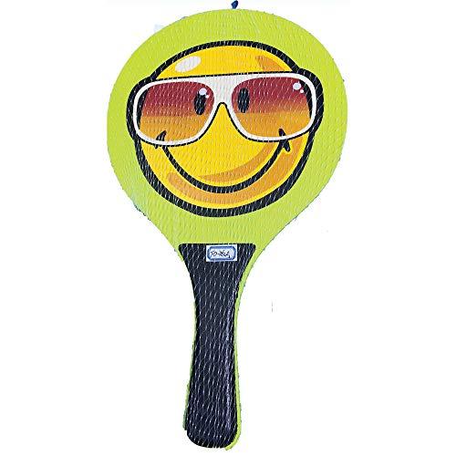 Racchettoni da spiaggia in legno con pallina mod.Smile, coppia racchette beach tennis in legno da 8mm, coppia racchetta da spiaggia completa di pallina,racchette da spiaggia,racchettoni mare in legno