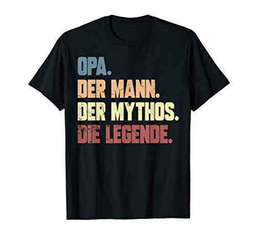 Opa Der Mann Der Mythos Die Legende Vatertags Shirt
