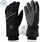 MOREOK Ski Gloves,3M Thinsulate Winter Thermal Gloves for Men Women Waterproof Windproof Touchscreen