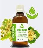 Pure herbs Linden Blossom Pure & Natural Therapeutic Grade Tilia cordata Absolute Oil (30ml- 1.01 oz)