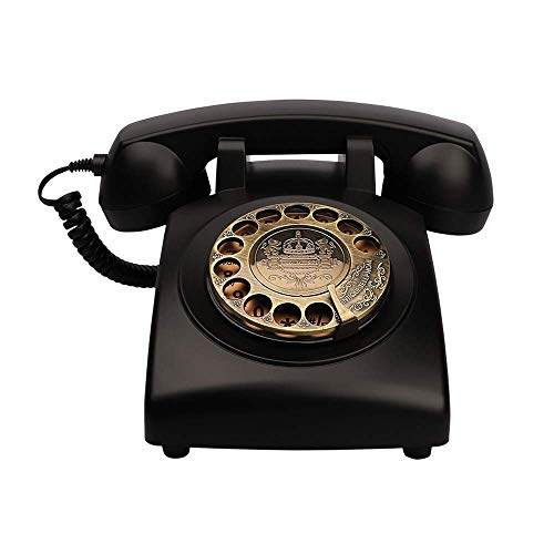 Artisam Antique Phones Corded Landline Telephone Vintage Classic Rotary Dial Home Phone of 1930s Old Fashion Business Phones Home Office Decor