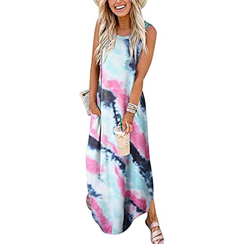 Masbird Summer Dresses for Women,Women's Summer Boho Short Dresses Floral Print Tie Neck Short Sleeve Elastic High Waist Ruffle Mini Skater Dress Pink