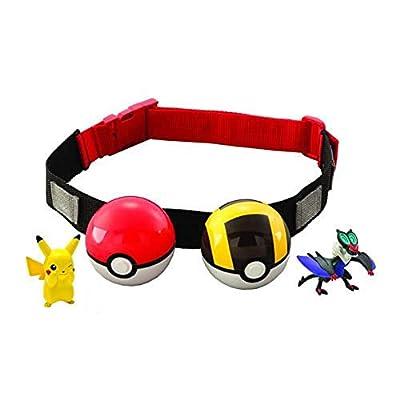 Pokémon T18206B- Clip 'n' llevar Poke bola cruz cinturón (surtido, modelos aleatorios) por Bizak