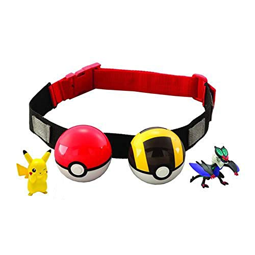 Pokémon Clip and Carry Poké Ball Adjustable Belt with 2-inch Pokemon Figure, Poké Ball, and Additional Poke Ball - Gotta Catch 'Em All, Styles May Vary (Discontinued by Manufacturer)