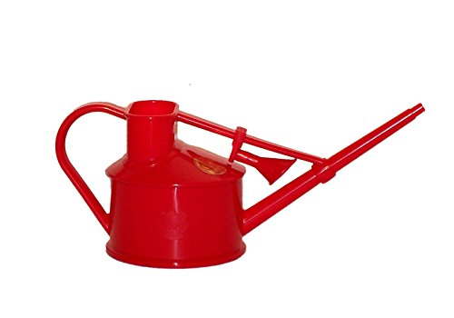 Haws Handy Indoor Plastic Watering Can, Red, 1 US Pint