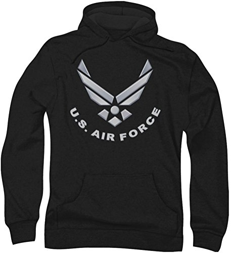 Air Force - - Logo Hommes Hoodie, Large, Black