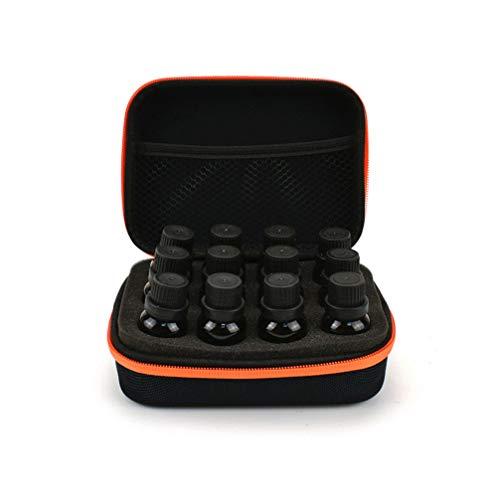 EXCEART Étui de Transport Portable pour Huile Essentielle Boîte de Rangement pour Bouteille D'huile Essentielle (Noir Et Orange)