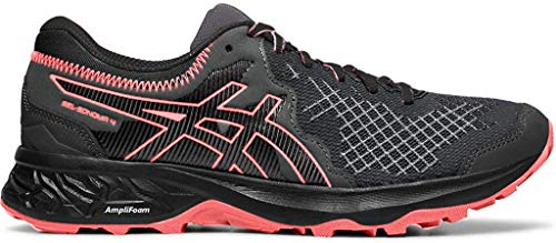 ASICS Women's Gel-Sonoma 4 Running Shoes, 9.5M, Black/Papaya