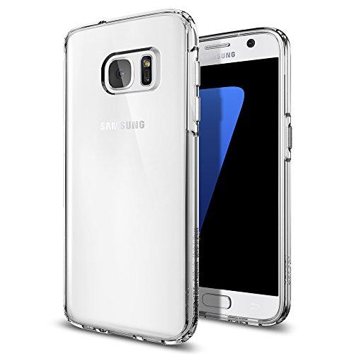 Samsung Galaxy S7 Hülle, Spigen® [Ultra Hybrid] Luftpolster Technologie [Crystal Clear] Einteilige Transparent Handyhülle Durchsichtige PC Rückschale mit Silikon TPU Bumper Schutzhülle für Samsung Galaxy S7 Case Cover - Crystal Clear (555CS20008)