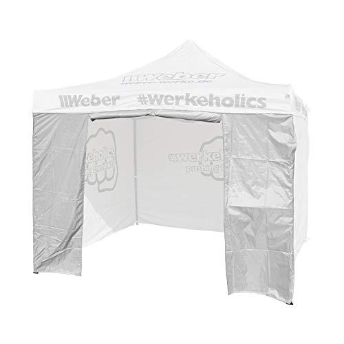 Seitenwand mit Türöffnung für Easy-Up Zelt 3 x 3 m grau