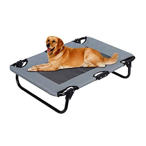 Hearthrousy Hundebett Outdoor Grosse Hunde Hundeliege Faltbar Klappbar Erhöhtes Faltbares Tragbares Großes Haustier Bett für Hunde Katzen Und Andere Haustiere 7752cm