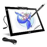 A4 Portable LED Light Box Trace, Zecti USB Power LED Artcraft Tracing Light Pad Light Box 6 Level...