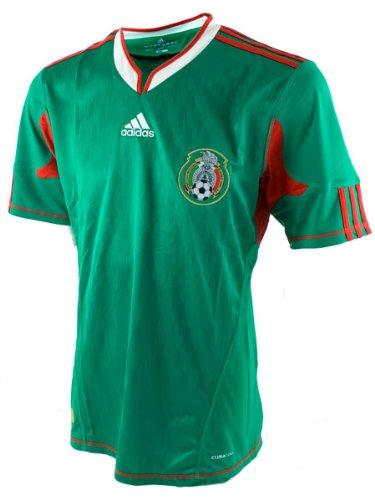 adidas México Casa Juventud fútbol Jersey, International Soccer, Infantil, Color Green/White/Red, tamaño Small