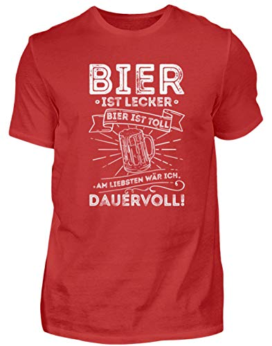 Bier is lekker bier is geweldig het liefst continu I Party & JGA - heren shirt
